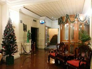 The lobby or reception area at Hotel Geo