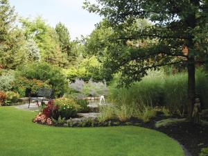 A garden outside White Oaks Conference & Resort Spa