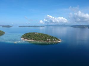 A bird's-eye view of Iris Island Eco Resort