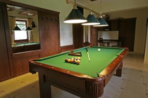 A pool table at Penzión Ingrid