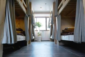 A bunk bed or bunk beds in a room at Hostel Casa Noda