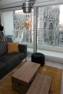 Een zitgedeelte bij Appartement aan Zee