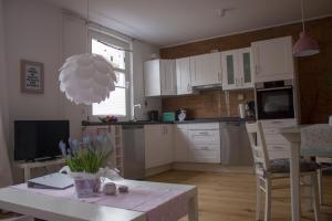 Køkken eller tekøkken på Stadtflucht Lüneburg: Ferienwohnungen Innenstadt