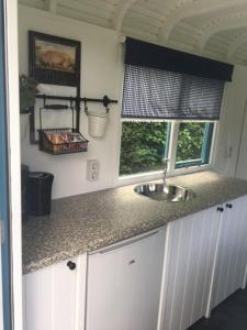 Cuisine ou kitchenette dans l'établissement Shepherds hut (Pipowagen)