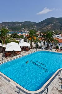 The swimming pool at or near Dionyssos