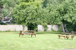 A garden outside Radstock Hotel near Bath