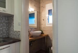 Ett badrum på Villa Albanis