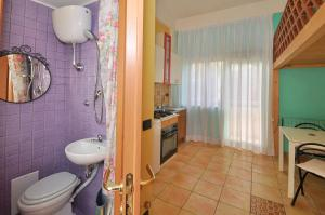 A bathroom at Casa dei Greci