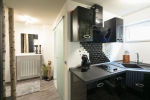 A kitchen or kitchenette at Wohnung Stuttgart Mitte