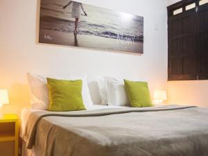 Cama ou camas em um quarto em Che Lagarto Hostel Morro De São Paulo
