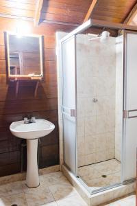 A bathroom at Wasai Puerto Maldonado Hostel