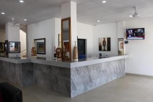 The lobby or reception area at Swiss Boutique Hotel