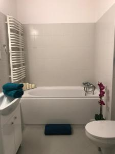 A bathroom at Apartament Strzałowa