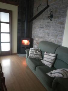 Zona de estar de Balkonpe Landa Etxea
