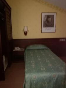 A bed or beds in a room at Hotel Leonardo Da Vinci