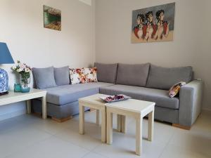 A seating area at Heraklion Old Port Apartments