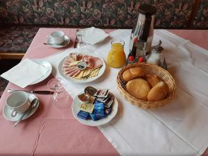 Breakfast options available to guests at Gasthof Schützenwirt