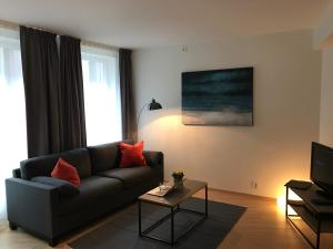 A seating area at The Apartments Company - Aker Brygge