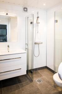 A bathroom at Rjukan Hytteby