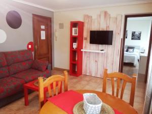 Zona de estar de Apartamentos River Santander