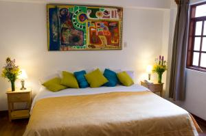 A bed or beds in a room at Casa de Baraybar