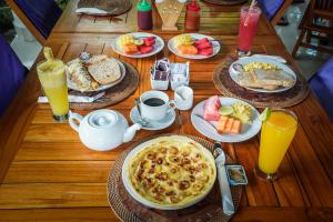 Breakfast options available to guests at Martas Hotel