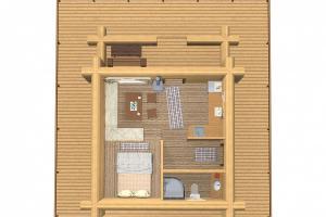 Планировка Гостевая деревня Ежезеро