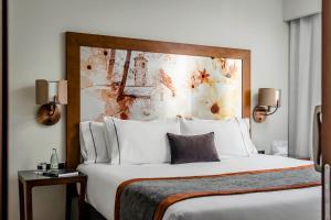 Cama o camas de una habitación en Eurostars Andorra