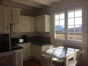 A kitchen or kitchenette at gite les sagnas