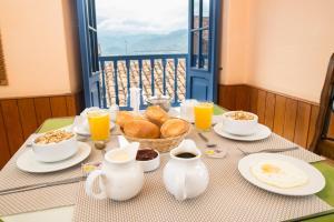 Opciones de desayuno disponibles en Amaru Inca