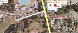 A bird's-eye view of Ballarat Eureka Lodge Motel