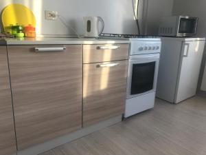 Кухня или мини-кухня в Apartment na Lenina 13