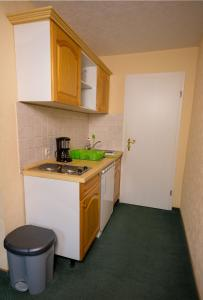 Küche/Küchenzeile in der Unterkunft Pension Immergrün