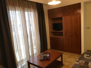 A television and/or entertainment center at Captain Yiannis Studios & Apartments