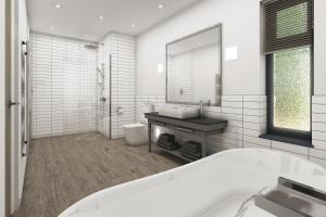 A bathroom at Kentisbury Grange