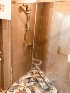 Ein Badezimmer in der Unterkunft Apartments in the heart of Prague