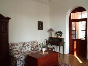 Ein Sitzbereich in der Unterkunft Hotel-Appartement-Villa Ulenburg
