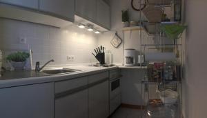 Küche/Küchenzeile in der Unterkunft Ferienwohnung Sophie