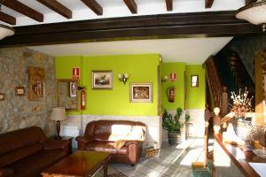 The lobby or reception area at Posada La Venta de Quijas