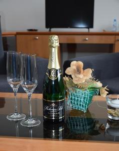 TV a/nebo společenská místnost v ubytování Hotel Jaškovská Krčma