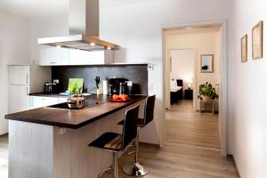 A kitchen or kitchenette at Leipzig Apartmenthaus