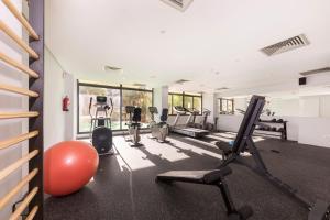 Het fitnesscentrum en/of fitnessfaciliteiten van Be Live Experience Orotava