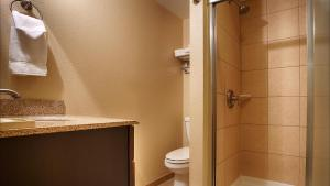 A bathroom at Best Western Plus Bridgeport Inn