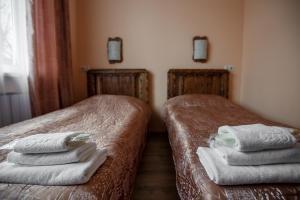 Кровать или кровати в номере Усадьба Стрелингоф