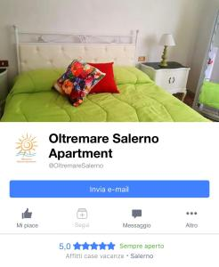 A bed or beds in a room at Oltremare Salerno Apartment