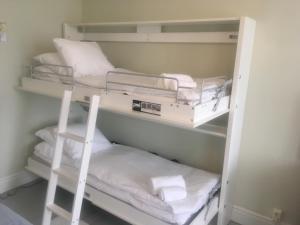 A bunk bed or bunk beds in a room at STF Villa Söderåsen B&B