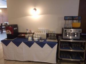 A kitchen or kitchenette at Hotel Annahof