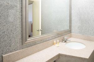 A bathroom at Days Inn by Wyndham Long Island/Copiague