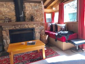 A seating area at Bindi - Alpine Getaways's Chalet at Tower Rd