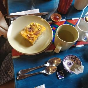 Breakfast options available to guests at Casa Elena
